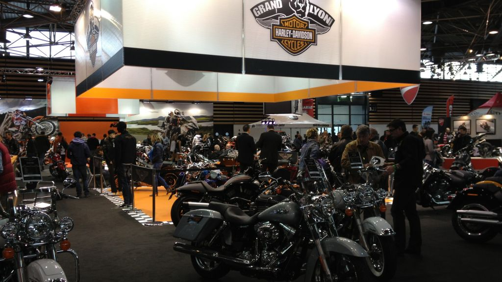 harley davidson grand lyon au salon du 2 roues 2014 agence de communication et relation presse. Black Bedroom Furniture Sets. Home Design Ideas