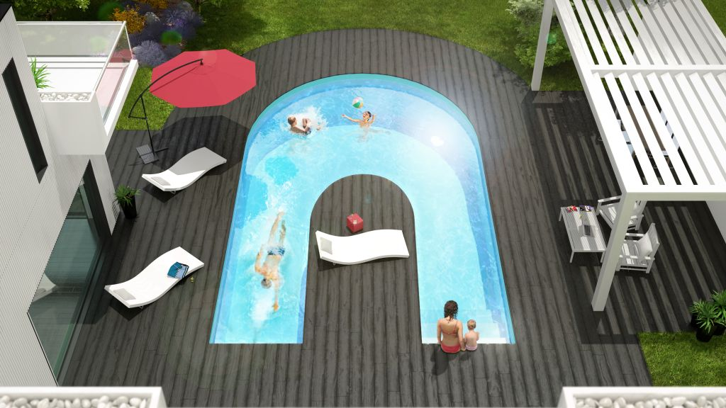 une nouvelle cr ation aquilus alpha b une piscine. Black Bedroom Furniture Sets. Home Design Ideas